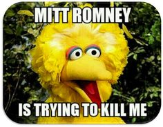 """OMG  """"Big Bird"""" was the fourth-highest-rising search term on Google. See how the big yellow guy got dragged into politics. @drdmarketing"""