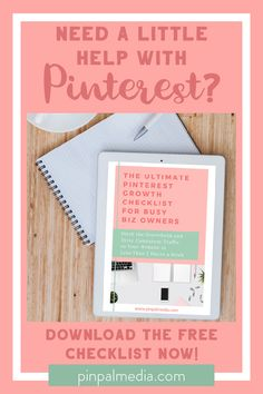 Struggling to keep up with daily Pinning and keeping your Pinterest account in tip top shape? Download this free checklist to help you get a handle on all the daily, weekly and monthly tasks to keep your Pinterest Growing! Plus, a bonus checklist to help you get set up!  #PinterestTips #PinterestGrowth | Pinterest Tips | Pinterest Growth  | Pinterest Strategy | Pinterest for Business | Small Business Tips Pinterest Account, Pinterest Pin, Medium Blog, Online Marketing, Digital Marketing, Pinterest For Business, Social Media Tips, Blog Tips, Business Tips