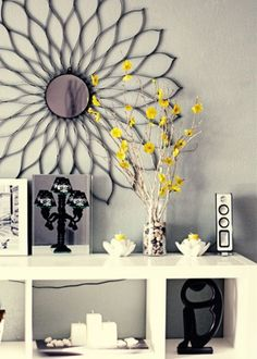 Perfect for grey and yellow nursery. My Living Room, Living Room Decor, Bedroom Decor, Wall Decor, Wall Art, Bedroom Ideas, Master Bedroom, Bedroom Wall, Feng Shui