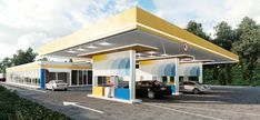 Benzinării UMB, Adjud, România - Creativ-Interior Gas Station, Romania, Creative, Interior, Outdoor Decor, Modern, Projects, Design, Home Decor