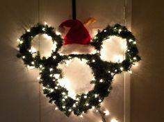 Hand made Mickey Mouse wreath!!  #madebyJenn