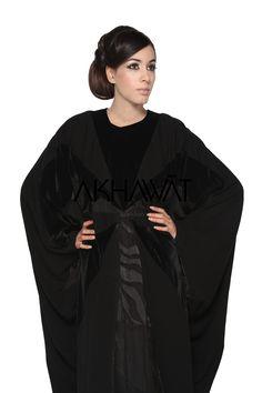 Akhawat Basically Black Abaya - Velvetine Butterfly Fashion Abaya Butterfly Abaya, Butterfly Fashion, Caftan Dress, Kaftan, Abaya Fashion, Indian Fashion, Black Abaya, Elegant, My Style