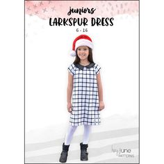 24ca34ec15ac The Larkspur Dress pattern for juniors by Hey June Handmade