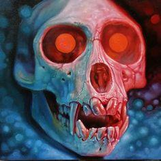 /// Christian Perez - #christianperez #hopegallerytattoo #trekell #skull #monkeyskull #oil #oilpainting #art #darkart