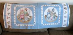 Vintage Doll Fabric, Pillow Supplies, Jack in a Box, Teddy Bear, Material, Sewing Supplies by NormaSuppliesandKits on Etsy