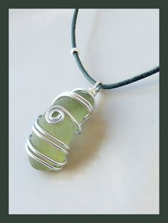 Seaglass pendant i have buckets of seaglass from bermuda. love this idea