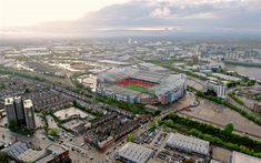 Download wallpapers Old Trafford, Manchester United, football stadium, sports arenas, Manchester, England, football, Premier League