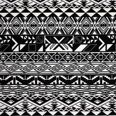 """Black White Triangle Rows Cotton Spandex Knit Fabric - Black and natural white ethnic inspired triangle diamond rows design on a top quality cotton spandex knit.  Fabric has a smooth and soft hand, and is mid weight with a 4 way stretch.  Pattern repeat measures 10 1/2"""" (see image for scale).  ::  $6.75"""