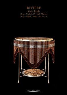 Rivière Side Table - Pont des Arts Studio - Designer Monzer Hammoud - Paris-