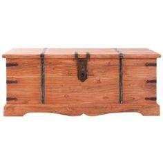 Baúl de grandes dimensiones, realizado en madera de acacia