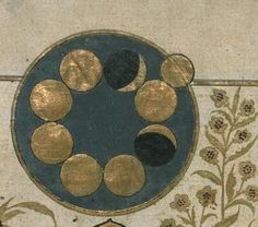 """Detail from the illustration """"Formation of the Crescent of the Moon"""", from the Turkish version of The Wonders of Creation by al-Qazwini, artist unknown, c. 1717"""