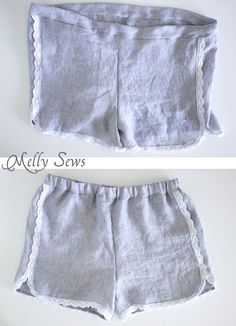 Step 6 - Sew these DIY shorts with a free pattern from Melly Sews