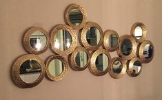 Gouden seven circle spiegel Gold Interior, Interior Design, Luxury Living, My Room, New Homes, Mirror, Inspiration, Shiva, Dutch