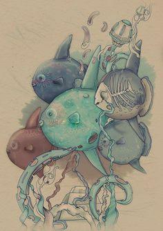 Birds by Tatiana Kazakova, via Behance