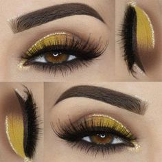 Eye makeup can easily complement your attractiveness and make you look fabulous. Find out the way in which to begin using make-up so that you are able to show off your eyes and make an impression. Learn the top tips for applying make-up to your eyes. Yellow Eye Makeup, Hazel Eye Makeup, Makeup Eye Looks, Natural Eye Makeup, Eye Makeup Tips, Makeup For Brown Eyes, Smokey Eye Makeup, Makeup Ideas, Eyeshadow Set