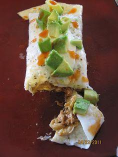 Simple Egg White Burrito