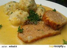 Křenová sekaná na smetaně recept - TopRecepty.cz Czech Recipes, Ethnic Recipes, Snack Recipes, Snacks, Meatloaf, Mashed Potatoes, Food And Drink, Treats, Chicken