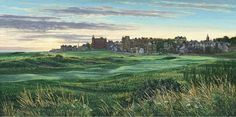 Road Hole at Dawn St Andrews Golf Picture St Andrews Golf, Golf Pictures, Golf Art, Office Art, Famous Artists, Dawn, Golf Courses, To Go, Canvas