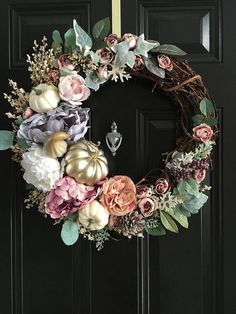 NEW FALL COLLECTION Enchanted Pumpkin Wreath Fall Door Wreath