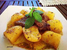 Μοσχαράκι με πατάτες στη γάστρα, μέλι‼️ Favorite Recipes, Beef, Vegetables, Food, Meat, Essen, Vegetable Recipes, Meals, Yemek