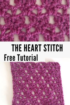 Crochet For Beginners Learn this beautiful crochet lace stitch: the heart stitch! Easy stitch perfect for beginners; a free crochet tutorial! Crochet Crafts, Easy Crochet, Free Crochet, Crochet Lace, Tutorial Crochet, Crochet Mandala, Double Crochet, Crochet Projects, Crochet Tutorials