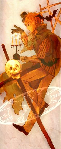 笹かま - Hetalia - England (Arthur Kirkland) man I love the halloween theme in this Ah it is such a lovely holiday