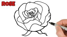 How to Draw a Rose Easy Easy Drawings For Beginners, Channel Art, Simple Art, Learn To Draw, Art Tutorials, Bee, Make It Yourself, Learn How To Draw, Bees