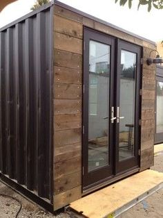 Custom Designed Shipping Containers rustic-garage-and-shed