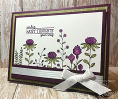 The Lady & Her Stamps: Flowering Fields Card Showcase