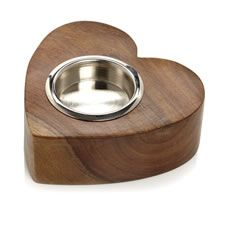 Wilko Wooden Heart Tealight Holder
