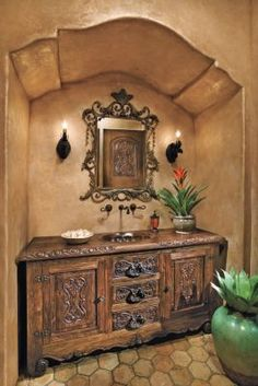 Spanish-Mediterranean Bath: I dreamed of this type of room 20 years ago.