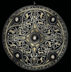 Celtic shield artwork