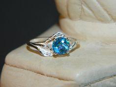 Mystic topaz ring size 7 sea jewel stone by JewelrybyDecember67, $59.00