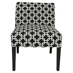 Check out this item at One Kings Lane! Bea Accent Chair, Black/White