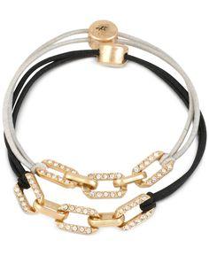 Kenneth Cole New York Gold-Tone Pave Link Stretch Bracelet Set