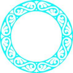 Turquoise Circle Frame Clip Art