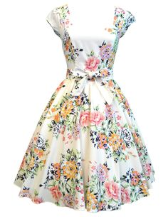 Lady V London Soft Pink Floral Swing Dress, perhaps a modest take on the summer sun dress?