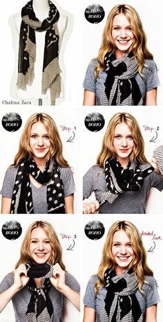 Mirame & Vestite: Cómo usar: chalinas y bufandas.Mirame & Vestite: Using: shawls and Step-by-step Smart ways to tie a scarf – the perfect fall outfit - Women FashionWant to learn how to tie a scarf in a brand new stylish way? Look Fashion, Fashion Beauty, Autumn Fashion, Fashion Tips, Trendy Fashion, Ways To Wear A Scarf, How To Wear Scarves, Ways To Tie Scarves, Wearing Scarves