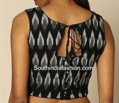 kalamkari blouse back neck designs