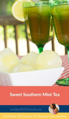 Sweet southern mint tea is cool and refreshing on a hot summer day. This recipe has an unexpected ingredient but adds so much flavor to this classic recipe.