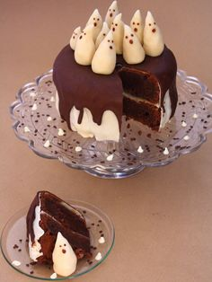 Gâteau fantôme pour Halloween - tuto inside