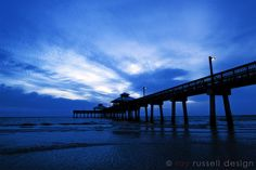 The pier at Fort Myers Beach taken just as the sun had set