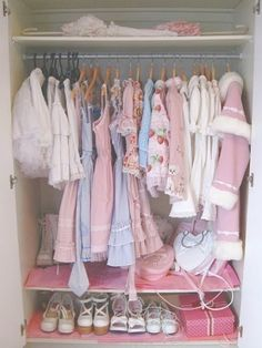 Angelic Nostalgia: How to build a lolita wardrobe! Cute Room Ideas, Cute Room Decor, Pastel Room, Pink Room, Dream Rooms, Dream Bedroom, My New Room, My Room, Room Ideas Bedroom