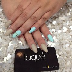 Matte Almond Stiletto Nails by laqué nail bar @laquenailbar Instagram photos