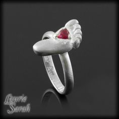 July Birthstone Ruby Baby Foot Ring  by LaurieSarahDesigns on Etsy, $91.80