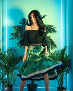Tropical vibesShop the QUIN top and LYNX pleated skirt - online now!