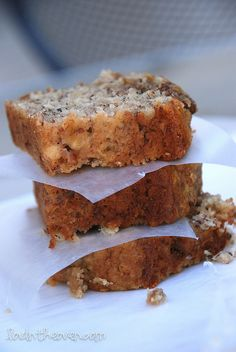 carmelized pecan banana bread.. YUM! Recipe