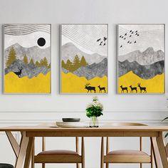 Joe&Andy Studio Modern Simple Deer & Flying Birds Canvas Print, Wall Art, Poster, Airbnb Home Decor. x 80 cm / x in) Bird Canvas, Abstract Canvas Art, Diy Canvas Art, Diy Wall Art, Acrylic Painting Canvas, Diy Painting, Geometric Art, Flying Birds, Paintings
