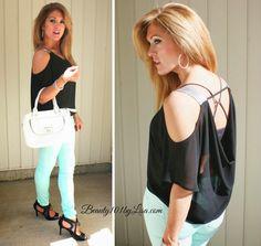 Mint Green Skinny Jeans #skinnyjeans #beauty101bylisa