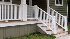 Making the front porch railings.
